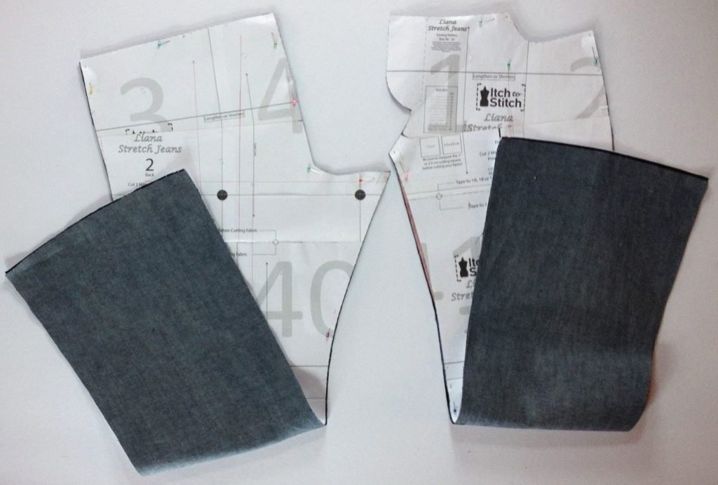 Liana Stretch Jeans Sewalong Day 6 Fabric Cut