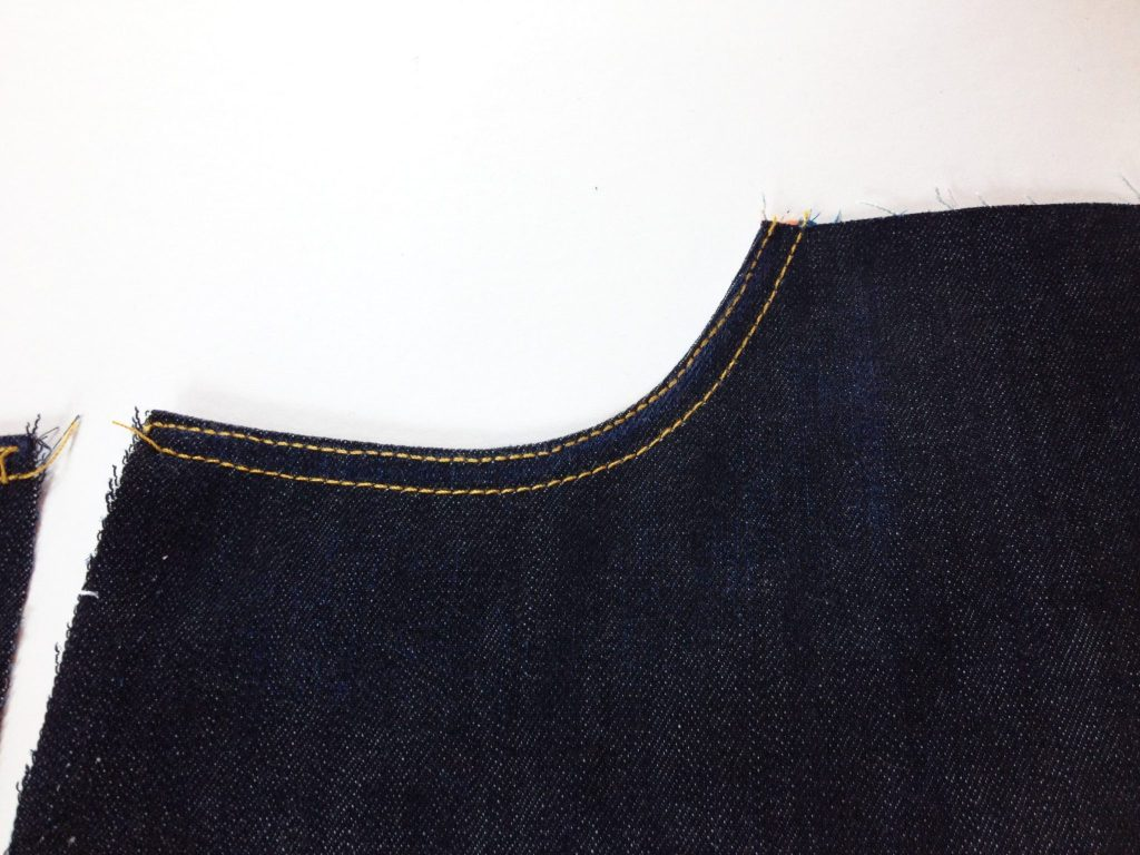 Liana Stretch Jeans Sewalong Day 6 Topstitch opening
