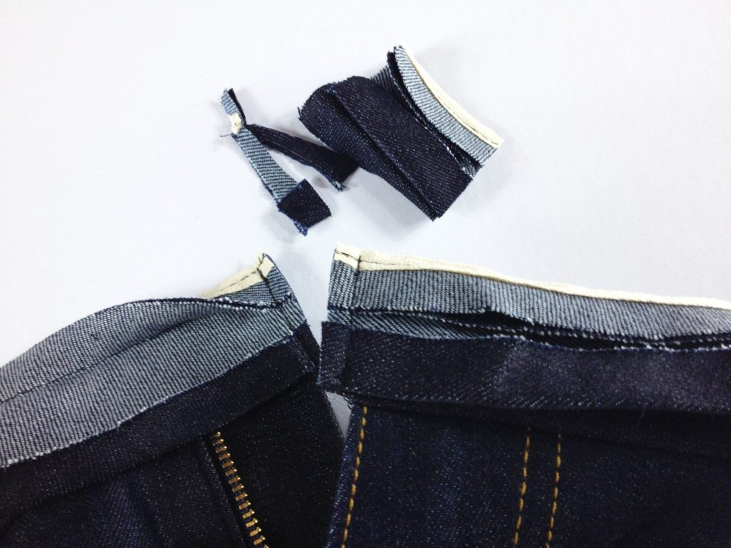 Liana Stretch Jeans Sewalong Day 9 Trim excess