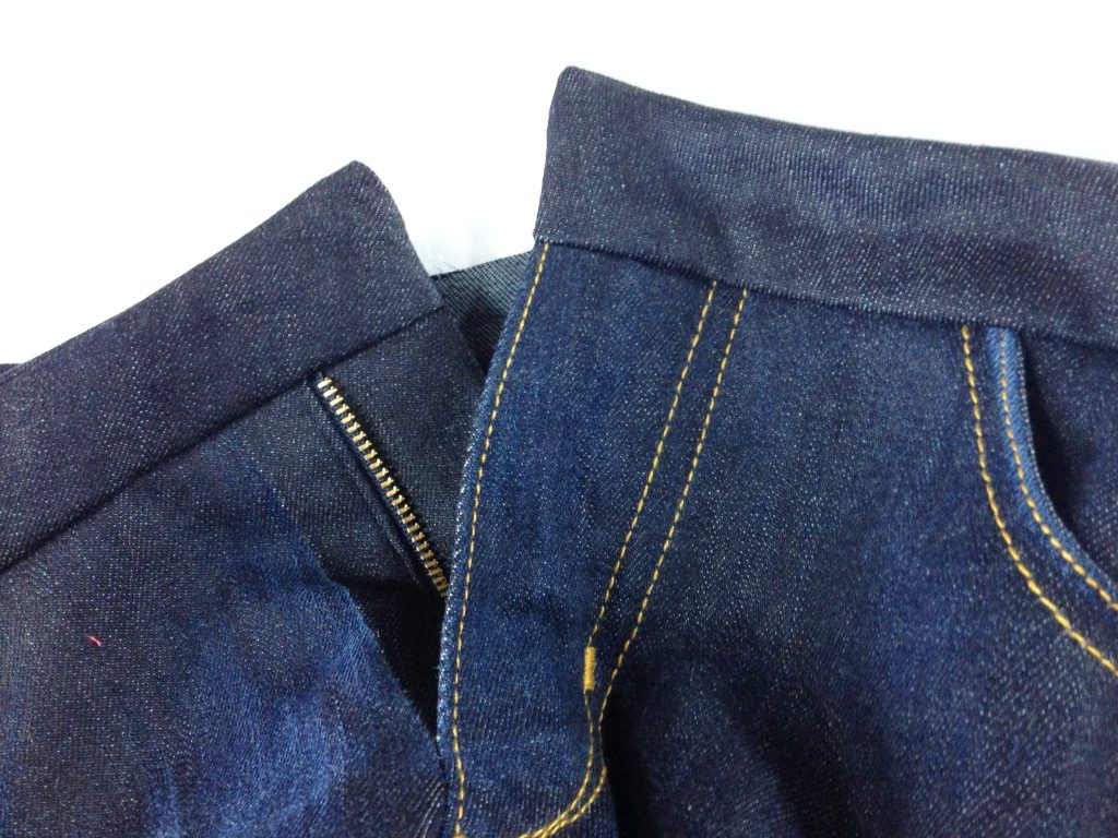 Liana Stretch Jeans Sewalong Day 9 Turn waistband right side out