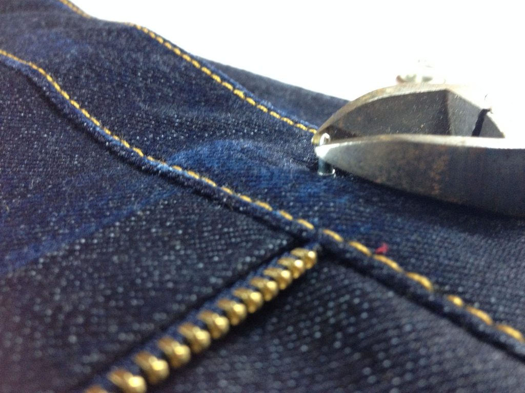 Liana Stretch Jeans Sewalong Day 9 Trim pin