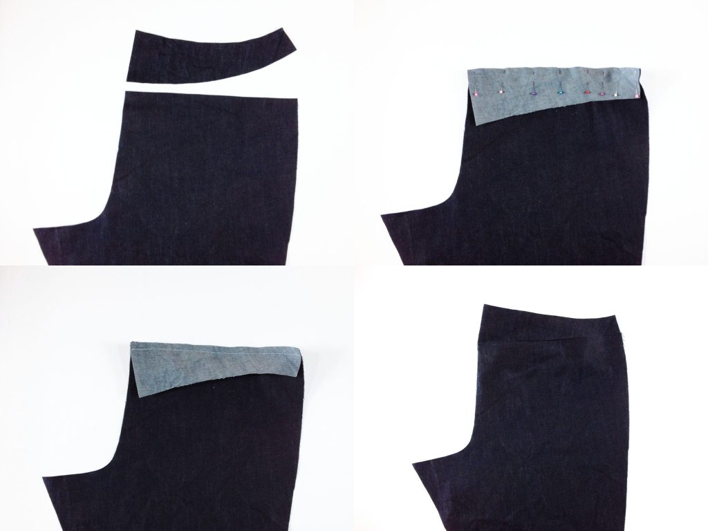 Liana Stretch Jeans Sewalong Day 4 Stitch back yoke