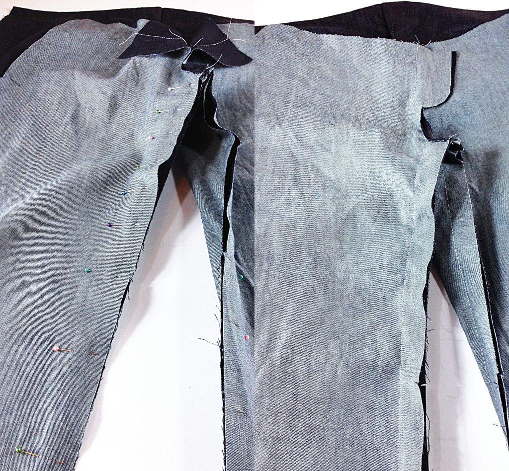 Liana Stretch Jeans Sewalong Day 4 Stitch inseam