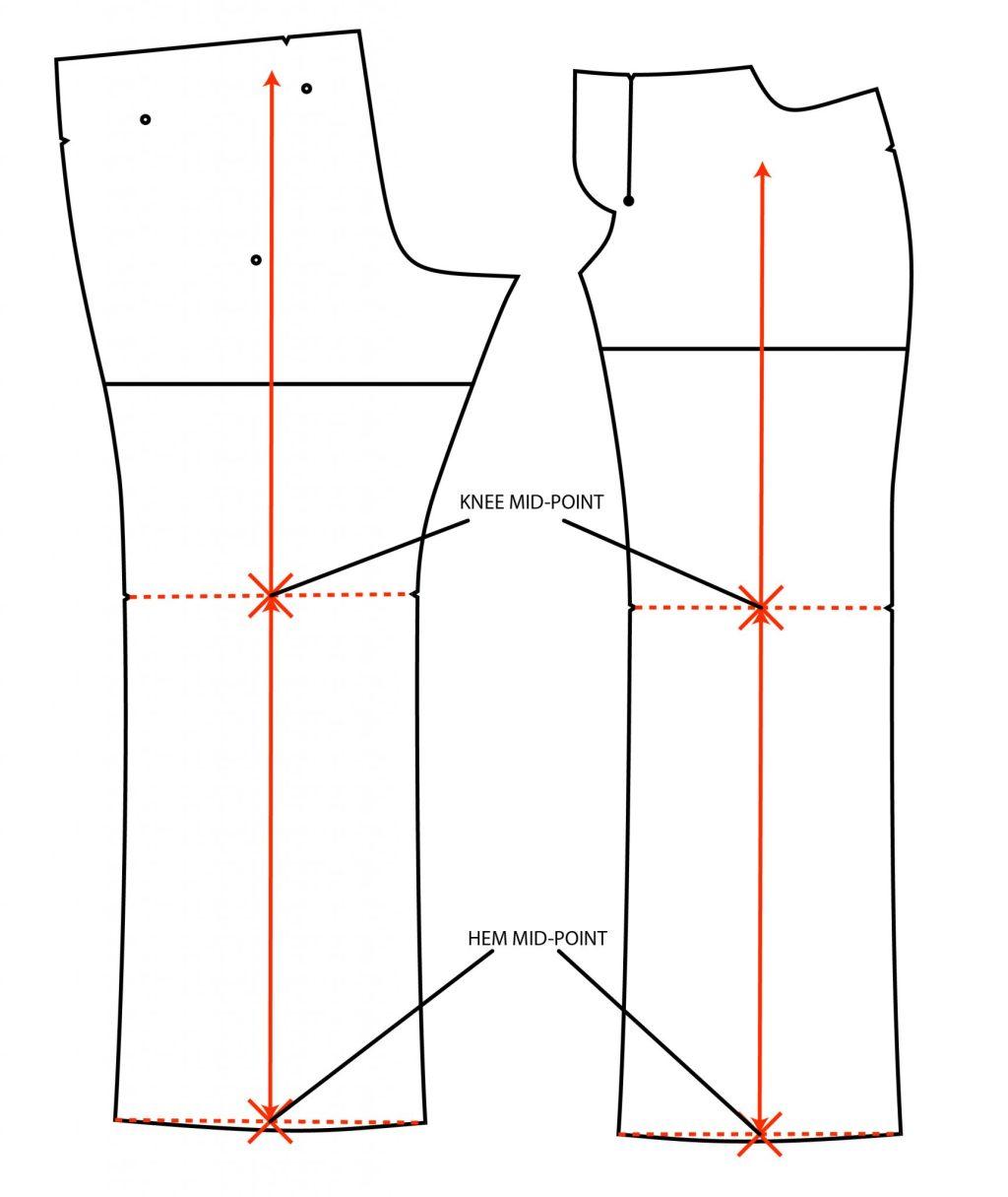 Liana Stretch Jeans Sewalong Day 5 Re establish grainline
