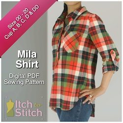 Mila Shirt PDF Sewing Pattern