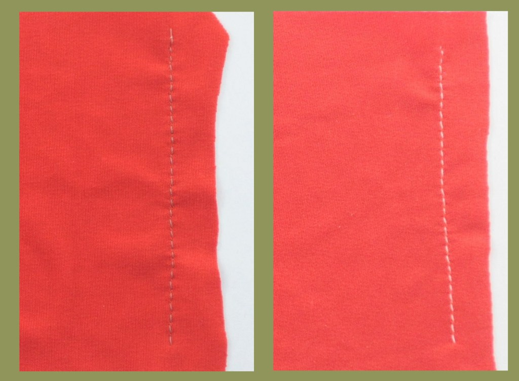 The left one is Stretch needle. The right one is Jersey needle.
