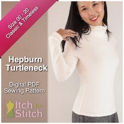 HepburnTurtleneckPDFSewingPattern250x250