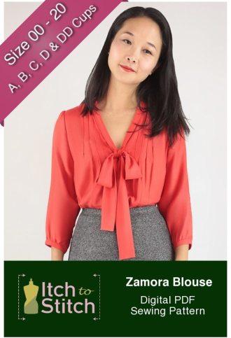 Itch to Stitch Zamora Blouse PDF Sewing Pattern Product Hero