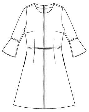 Itch to Stitch Sirena Dress PDF Sewing Pattern Sleeve Flounce Option