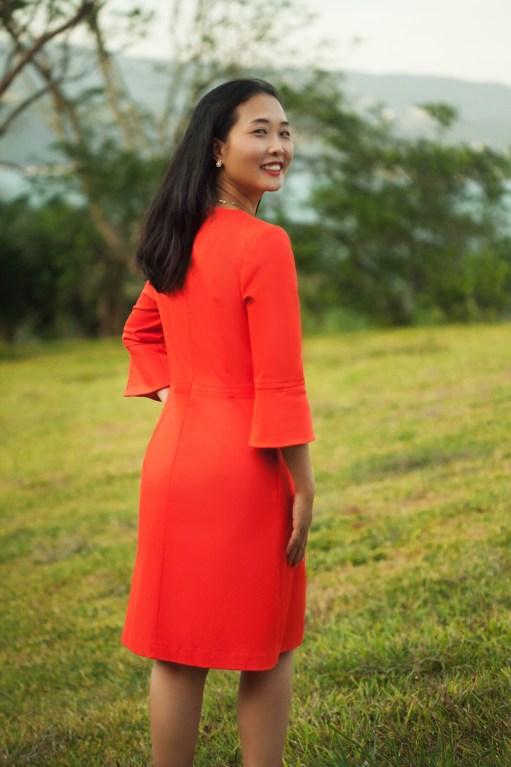 Itch to Stitch Sirena Dress PDF Sewing Pattern Sleeve Flounce Option - Back