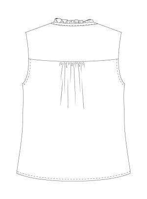 Itch to Stitch Vienna Tank PDF Sewing Pattern View A Back