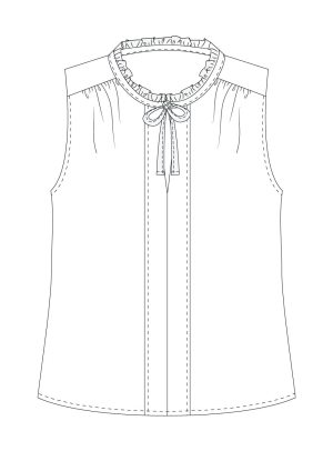 Itch-to-Stitch-Vienna-Tank-PDF-Sewing-Pattern-View-A-Front-Line-Drawing
