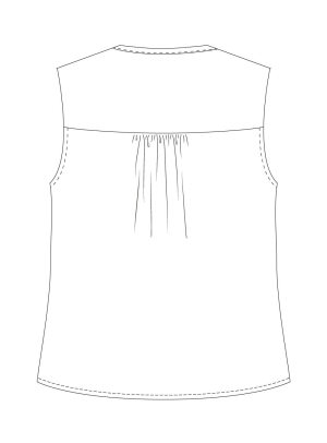 Itch-to-Stitch-Vienna-Tank-PDF-Sewing-Pattern-View-B-Back-Line-Drawing