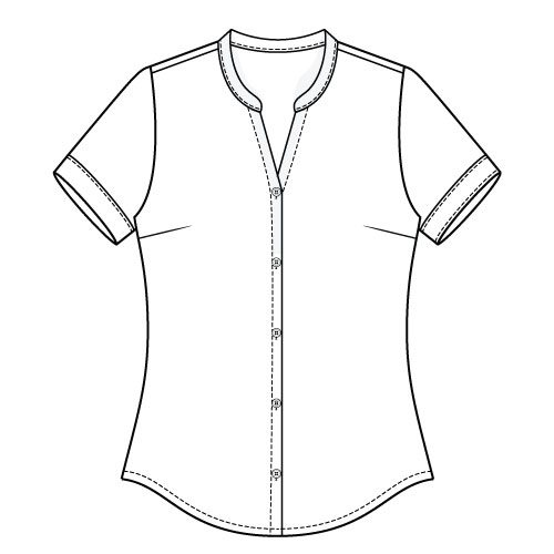 Bonn Shirt & Dress PDF Sewing Pattern - short Sleeve