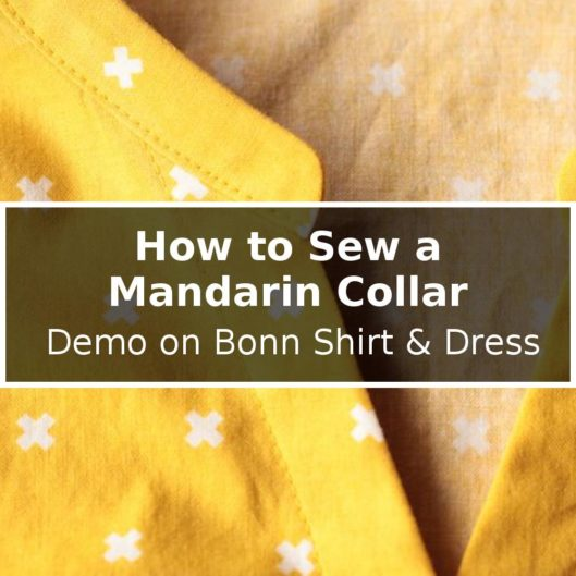 How to Sew a Mandarin Collar