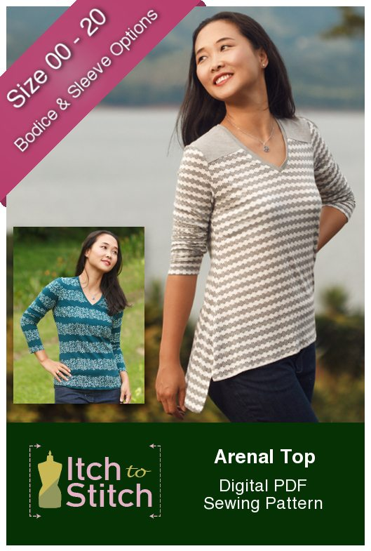Arenal Top PDF Sewing Pattern