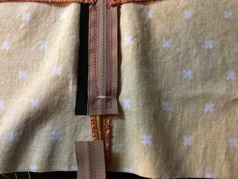 Lapped Zipper with Facing Photo Tutorial