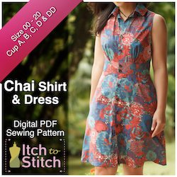 Chai Shirt & Dress PDF Sewing Pattern