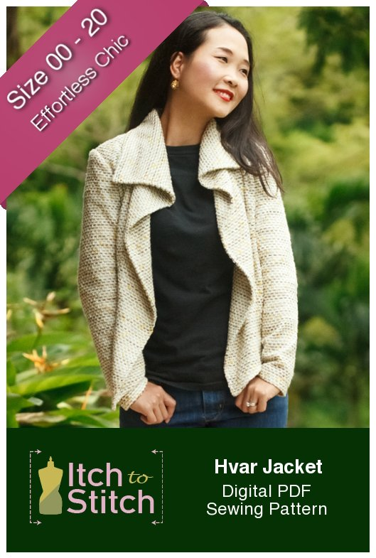 Hvar Jacket Digital Sewing Pattern (PDF) - Itch To Stitch