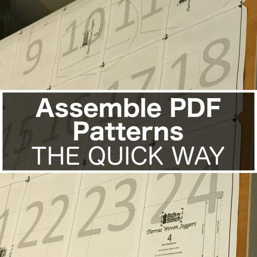 Assemble PDF Pattern the Quick Way