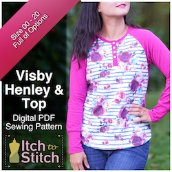 Visby Henley & Top PDF Sewing Pattern