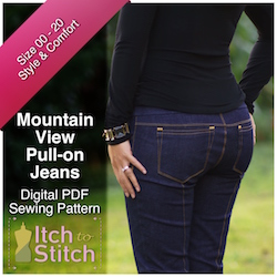 Mountain View Pull-on Jeans PDF Sewing Pattern