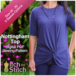Nottingham Top PDF Sewing Pattern
