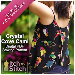 Crystal Cove Cami PDF Sewing Pattern