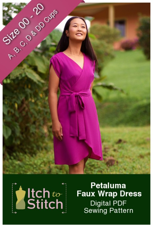Itch to Stitch Petaluma Faux Wrap Dress PDF Sewing Pattern