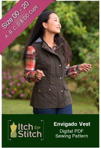 Itch to Stitch Envigado Vest PDF Sewing Pattern