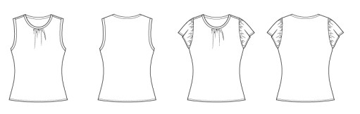 Itch to Stitch Isidro Top PDF Sewing Pattern Line Drawing