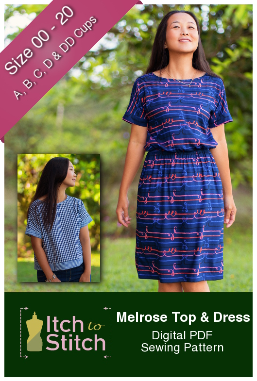Itch to Stitch Melrose Top and Dress PDF Sewing Pattern
