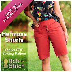 Hermosa Shorts	 PDF Sewing Pattern