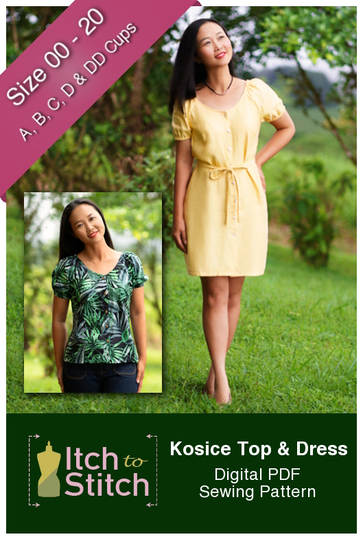 Itch to Stitch Kosice Top & Dress PDF Sewing Pattern