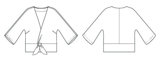 Itch to Stitch Sabalito Top Line Drawings