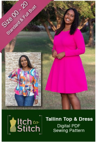 Itch to Stitch Tallinn Top & Dress Sewing Pattern