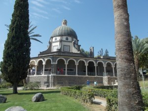 Church of the Beatitudes which marks the traditional site of the Sermon on the Mount.