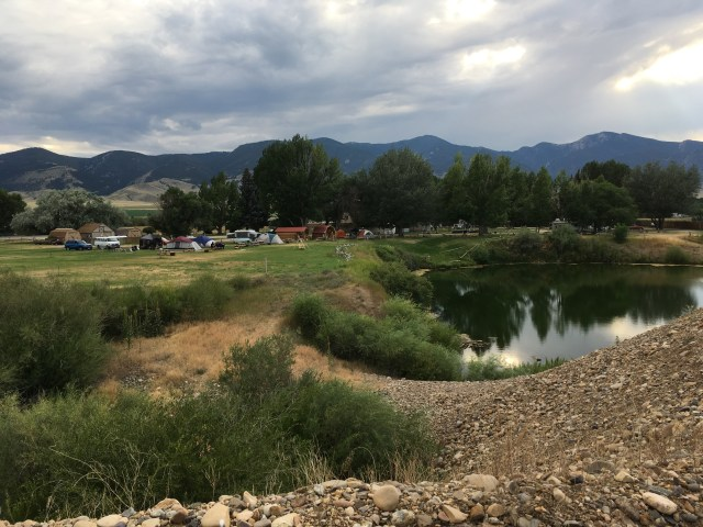 Pond and Campground