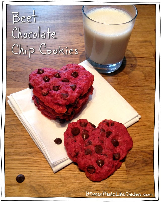 Beet Chocolate Chip Cookies Easy Valentines Day Recipe