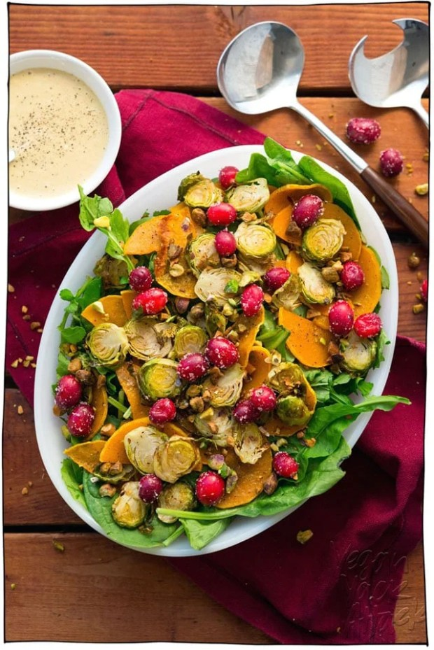 Vegan holiday potluck recipes!!! Everything from appetizers, salads, sides, mains, and of course desserts! Make ahead, then bring them to the party. Perfect for Thanksgiving, Christmas, or anytime holiday celebration. #itdoesnttastelikechicken #veganrecipes #veganthanksgiving #veganchristmas
