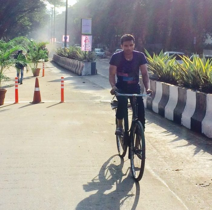 Cycle track in Aundh during mock