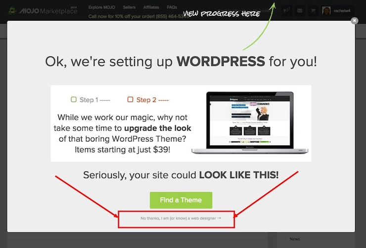 WordPress-install-sell-theme