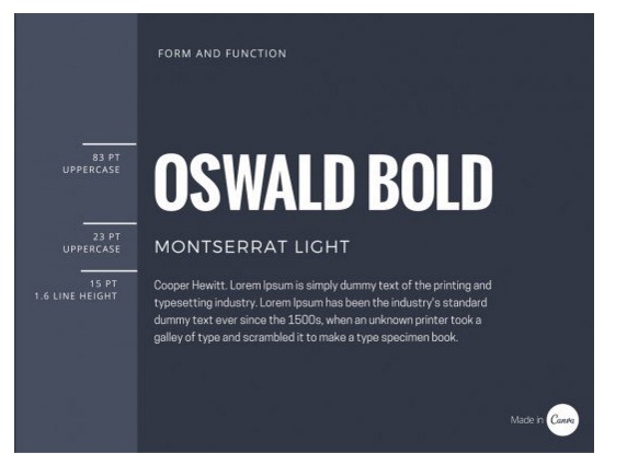 Choose a font for a blog