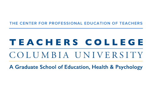The Center for Professional Education of Teachers Teachers College Columbia University Logo