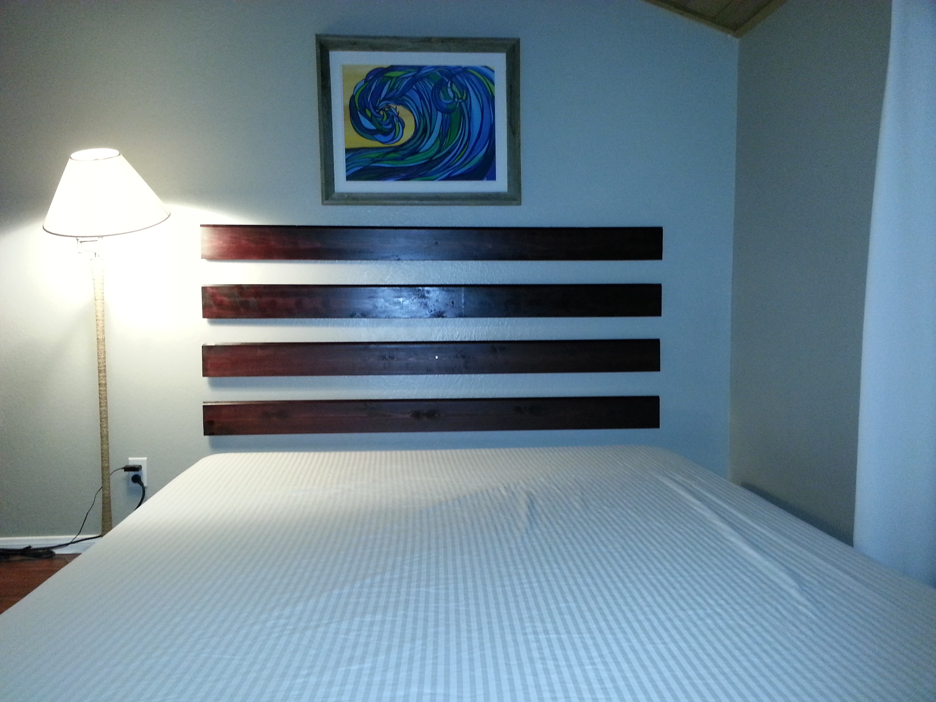 DIY - How to make a Floating Headboard for Cheap and Easy ... on Cheap Bed Ideas  id=91459