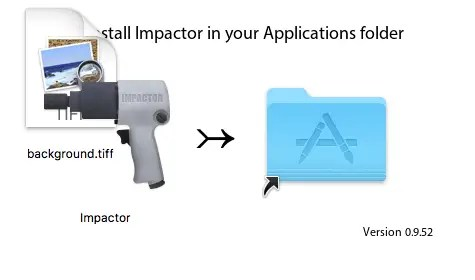 drop cydia impactor to applications