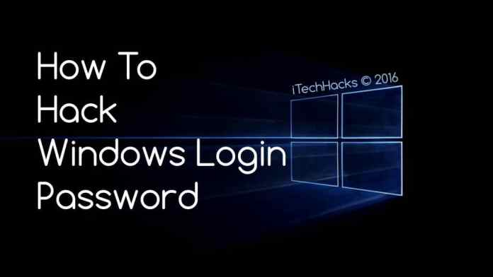 how to hack windows password 2016