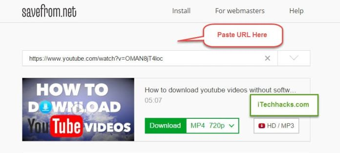 download youtube videos without softwares