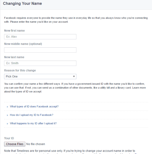 Change my fb user id name before 60 days