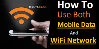 How To Use Mobile Data and WiFi Network Simuntanesly